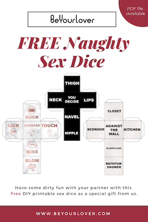 Free Printable Sex Dice : Naughty Game for Adult Couples