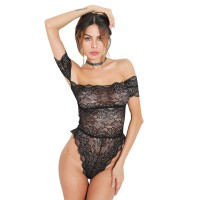 ZEMALIA Adabelle Off-The-Shoulder Lace Teddy