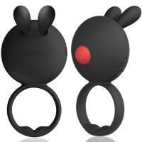 RIDMII Rinbit Powerful Rechargeable Vibrating Penis Ring Rabbit Style for Male & Couple